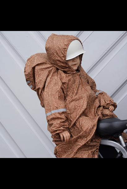 Konges Slojd bikecycle raincover blossom mist caramel