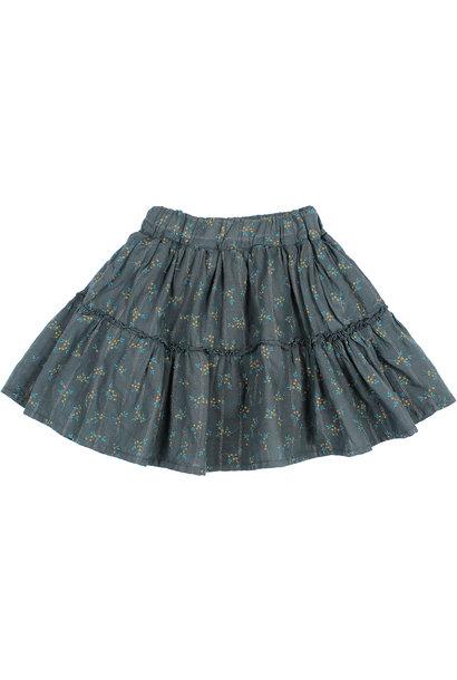 Buho lurex mimosa skirt blue night
