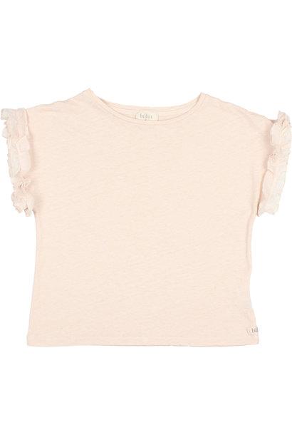 Buho kids ruffle t-shirt rose