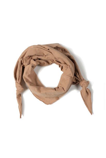Nixnut triangle scarf stripe nude/ caramel