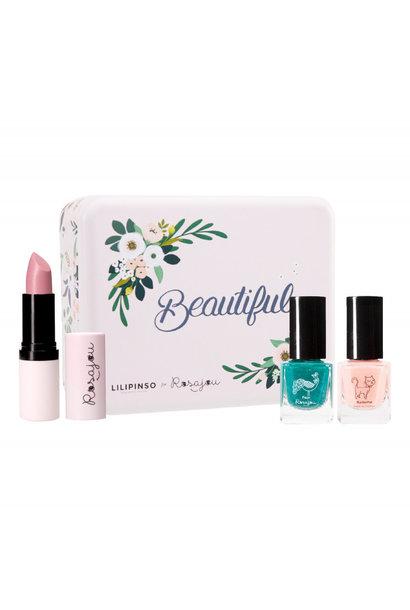 Rosajou metal box make-up set wonderland