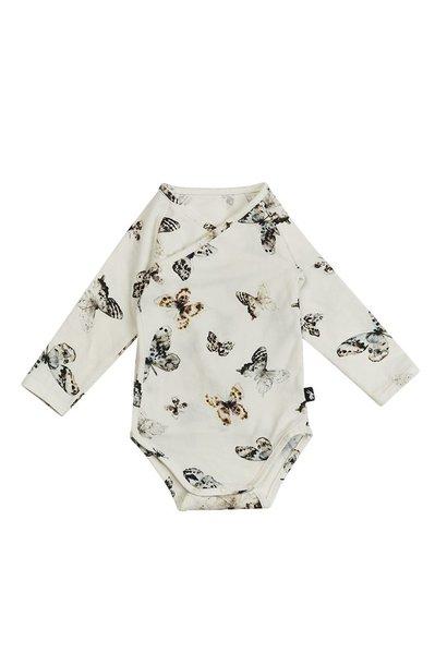 Mies & Co wrap bodysuit longsleeve fika butterfly