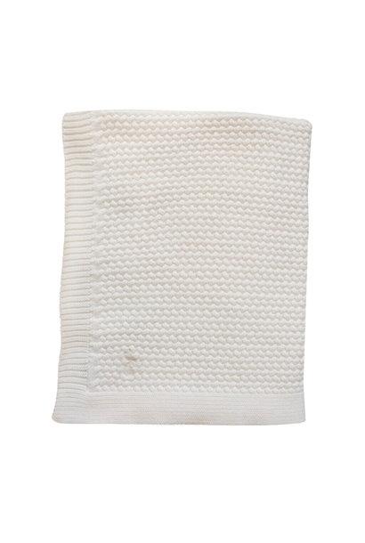 Mies & Co  Soft knitted wieg deken offwhite