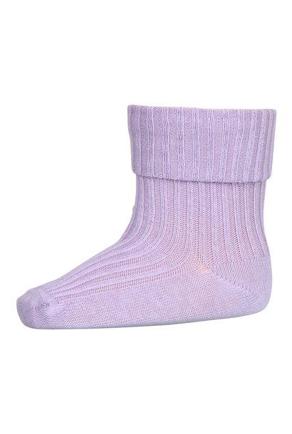 MP Denmark rib baby socks pastel lilac