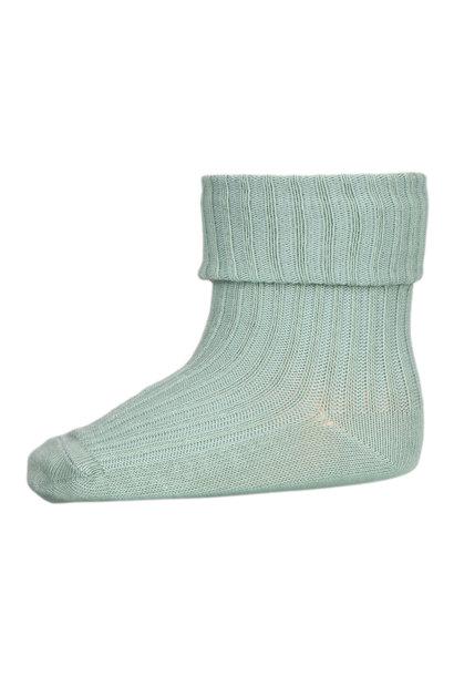 MP Denmark rib baby socks granite green
