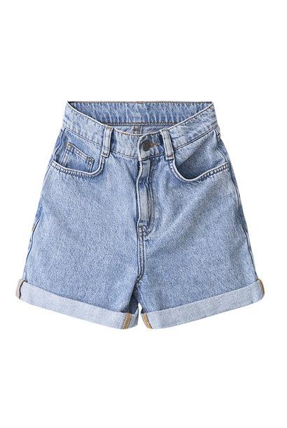 I dig denim mia high waist denim shorts blue