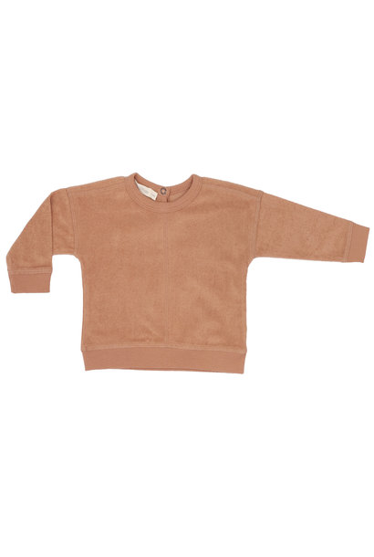 Phil & Phae frotté baby sweater warm biscuit