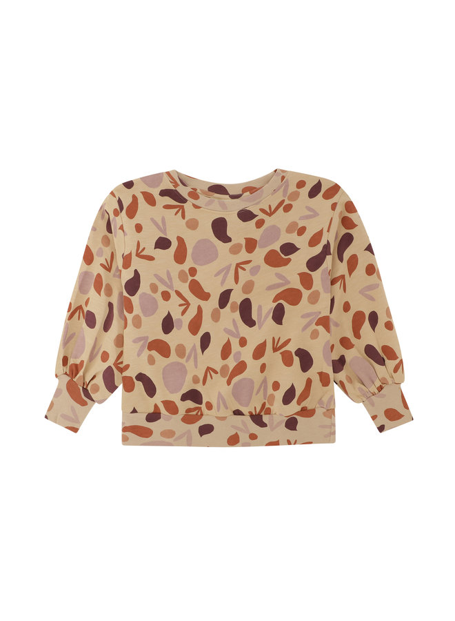 Soft Gallery elvira sweatshirt beige aop shapes