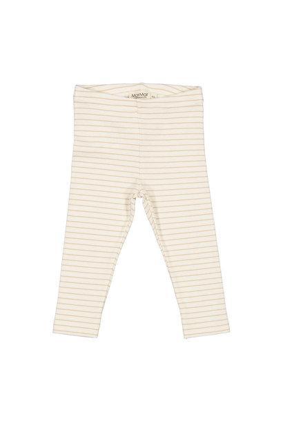 MarMar leg modal fine rib pants hay stripe
