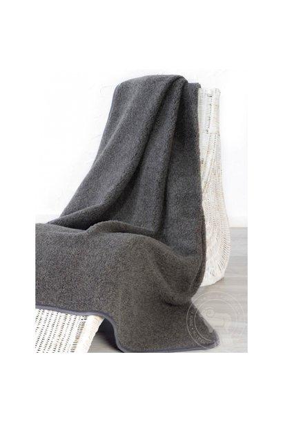 Alwero thumbled deken wol graphite