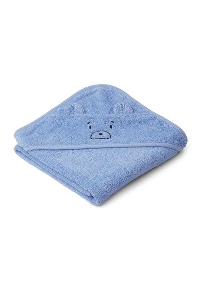 Liewood albert hooded towel mr bear sky blue