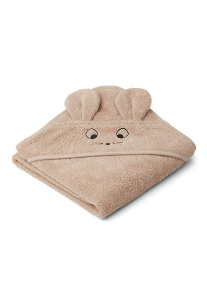 Liewood albert hooded towel mouse pale tuscany