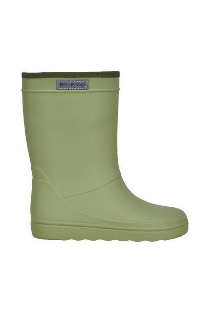 Enfant rubber rain boots sage