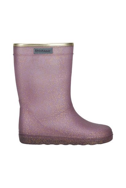 Enfant rubber rain boots glitter toadstool