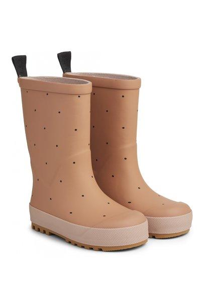Liewood river rain boots dots tuscany rose
