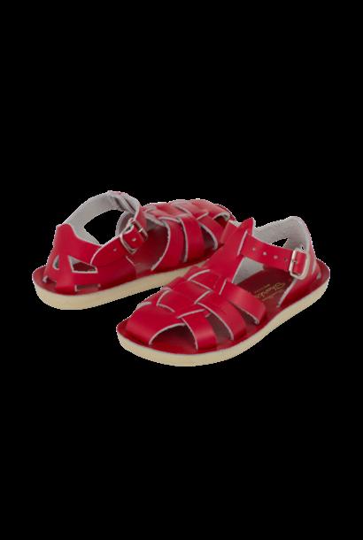 Salt water sandals shark red