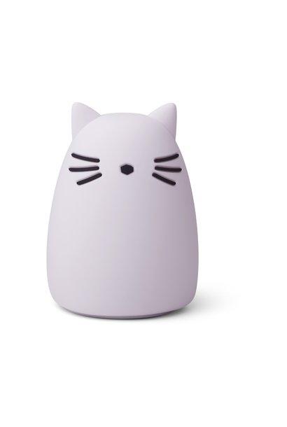 Liewood nachtlampje cat light lavender