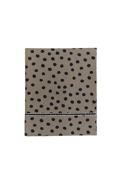 Mies & Co wieg laken bold dots dark brown