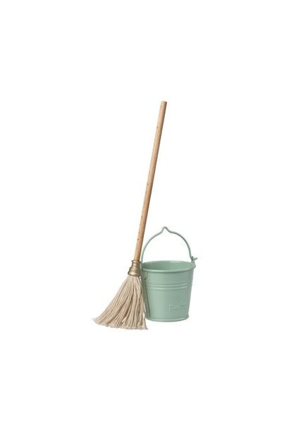 Maileg miniature cleaning set bucket and mop