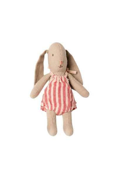 Maileg micro bunny with striped suit
