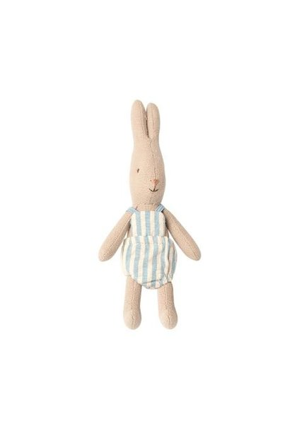 Maileg micro rabbit with striped suit