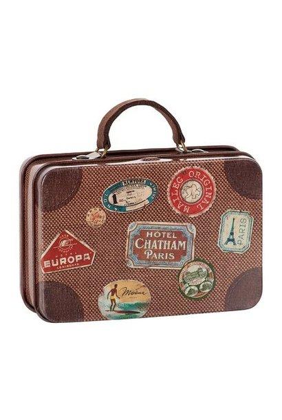 Maileg miniature metal suitcase brown travel