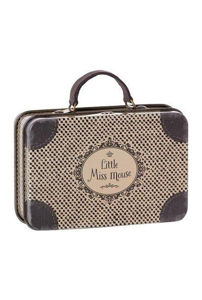 Maileg miniature metal suitcase little miss mouse