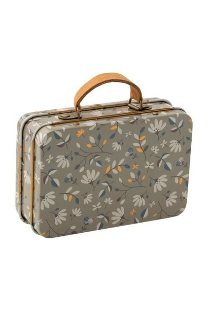 Maileg miniature metal suitcase merle dark