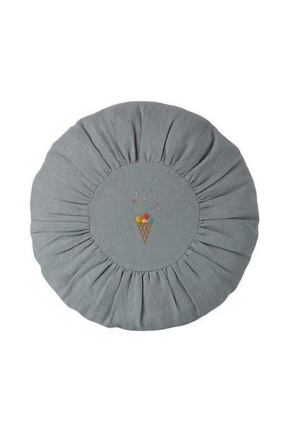 Maileg cushion round blue