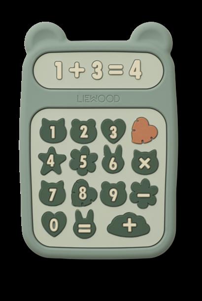 Liewood bijtspeelgoed niels calculator peppermint