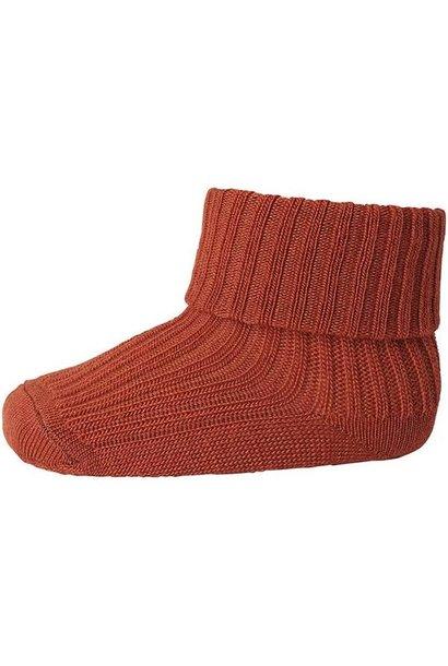 MP Denmark  rib baby socks marsala