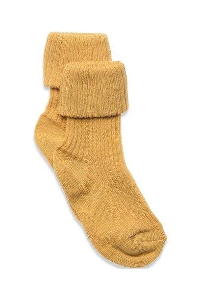 MP Denmark  rib baby socks ochre