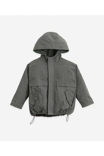 Play Up parka jas twill with zip cocoon