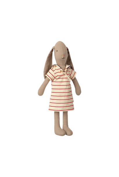 Maileg bunny with striped dress size 2