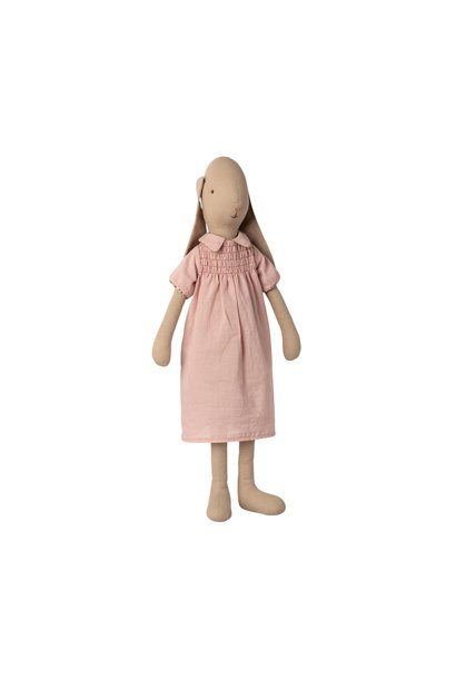 Maileg bunny with pink dress size 4