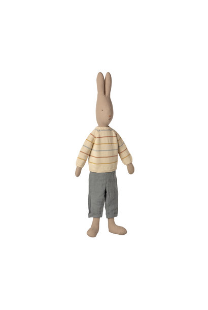 Maileg rabbit with pants and knitted sweater size 5