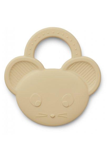 Liewood bijtspeelgoed gemma mouse wheat yellow