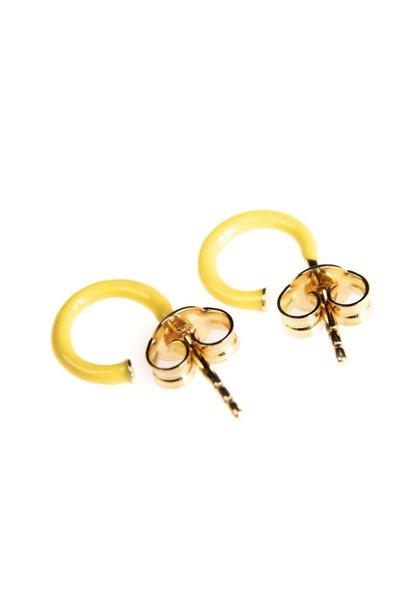 Selva Sauvage hoops pair enamel yellow