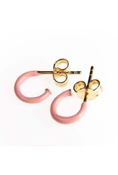 Selva Sauvage hoops pair enamel soft pink