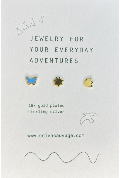Selva Sauvage earstuds trio spring is in the air