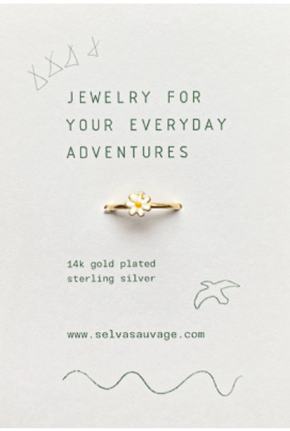 Selva Sauvage ring kids daisy white