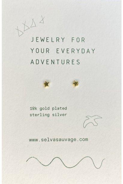Selva Sauvage earstuds pair mini stars