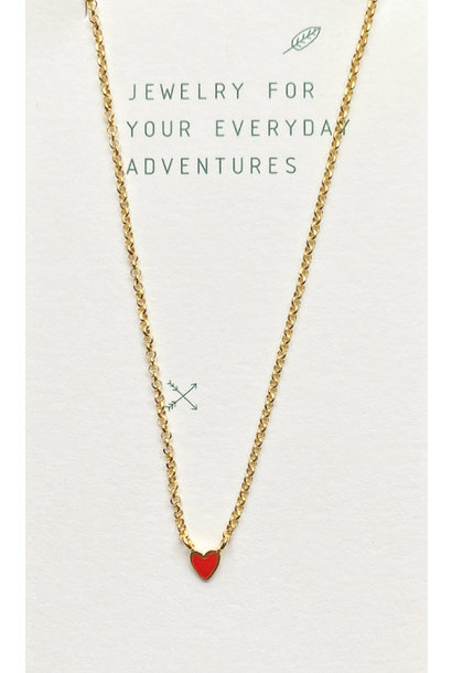 Selva Sauvage necklace heart red
