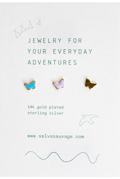 Selva Sauvage earstuds trio butterfly