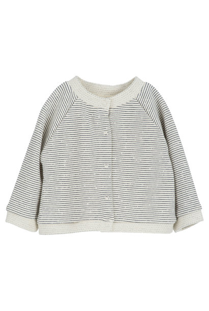 Serendipity baby jacket sweat offwhite/ navy stripes