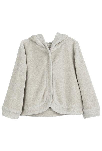 Serendipity baby hoodie velour wheat/ warm grey