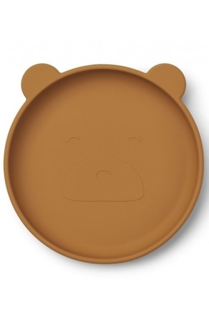 Liewood plate olivia mustard bear