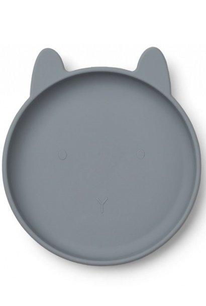 Liewood plate olivia blue bunny