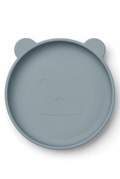 Liewood plate olivia blue bear