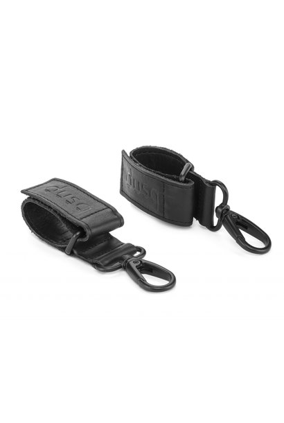 Dusq stroller straps leather black